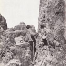 Paul Preuss im ersten Teil der Guglia di Brenta - 28.07.1911