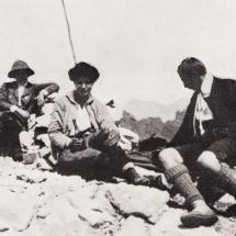 Paul Preuss mit Emmy Eisenberg und Annie Gibian Grohmannspitze - 08.08.1911
