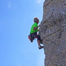 Albert Precht beim Bergklettern