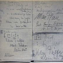 Tourenbuch Paul Preuss, auch mit einer Eintragung seines Freundes Hans Dülpher